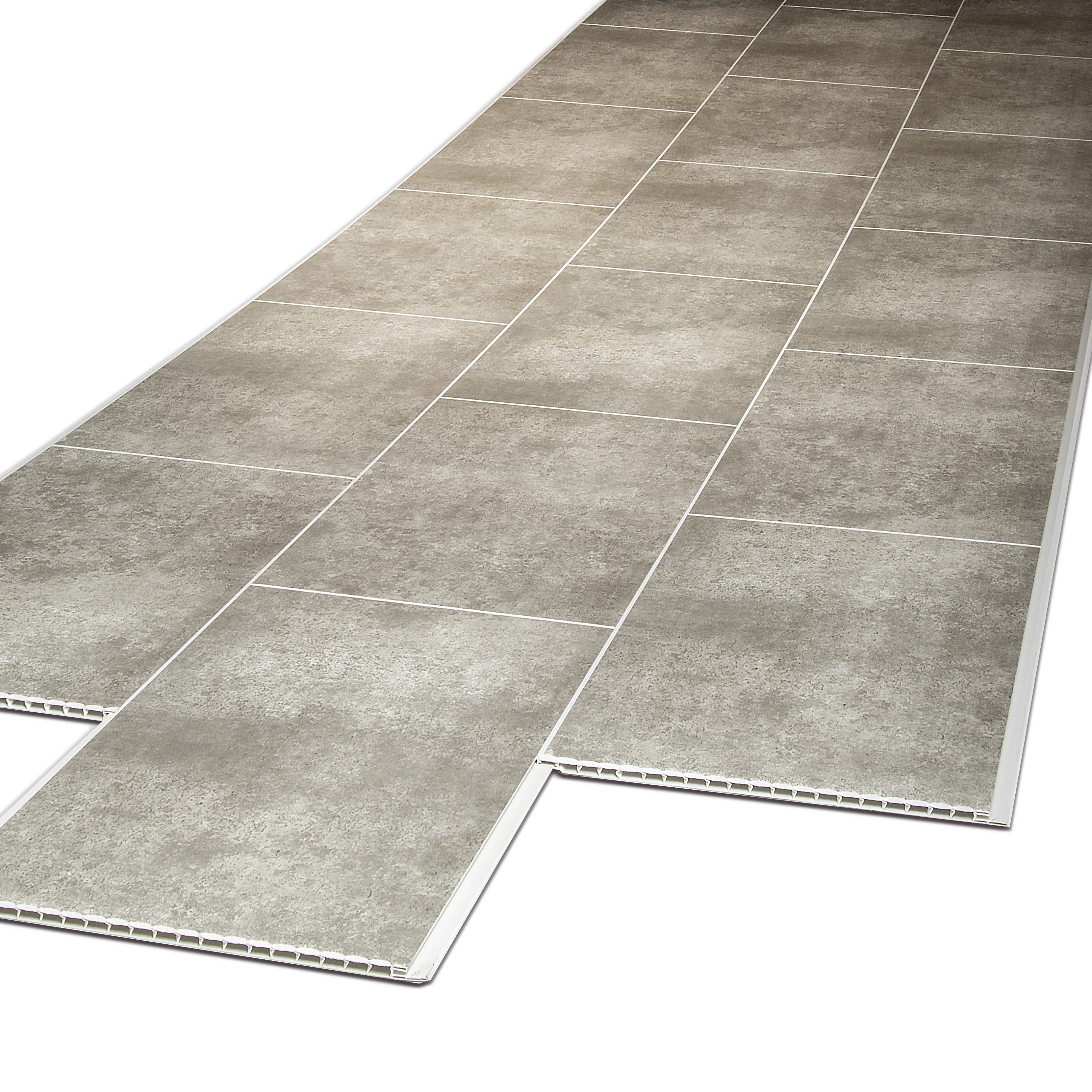 Tile Effect Cutline Flagstone Grey 250mm x 2.7M x 8mm