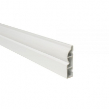 Ogee Plastic Architrave 60mm x 5.5M White Satin