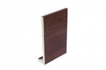 PVC Fascia Capping Board 405mm x 9mm x 5m Double Ended Rosewood