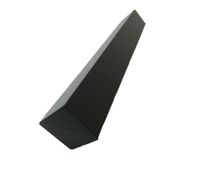 Cappit Face Fix Corner Square 300mm Black