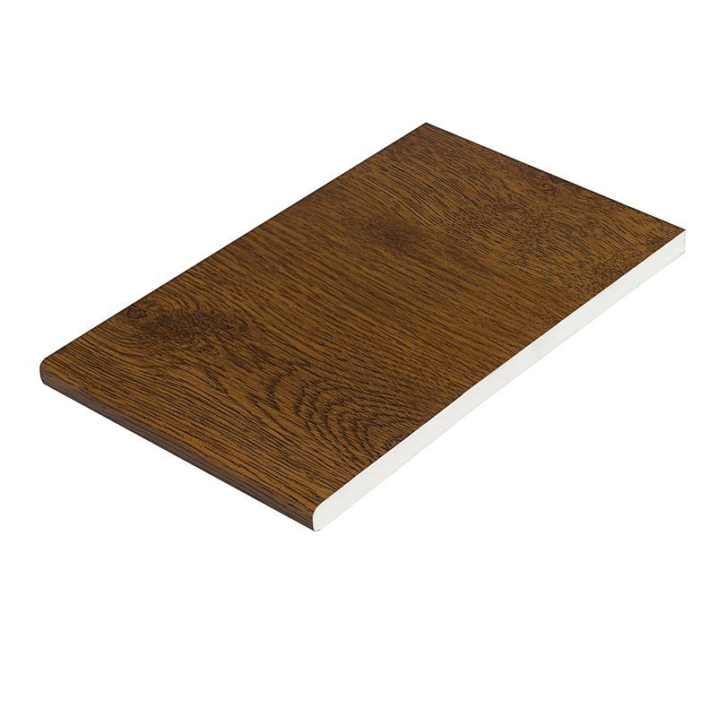 Plain Pvc Soffit Board 200mm x 9mm x 5M  Light Oak