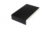 Square PVC Fascia board 225mm x 16mm x 5m Black