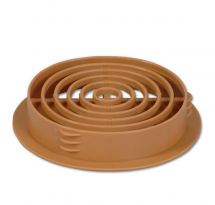 CIRCULAR SOFFIT VENT TAN 68mm
