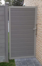 Duofuse T&G Gate Kit Stone Grey 1M x 1.8M (GATE ONLY)