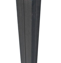 Duofuse Reinf Gate Post   Graphite Black 1.8M