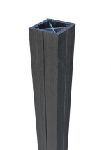 Duofuse Fencing Post Graphite Black 90mm x 2.7M