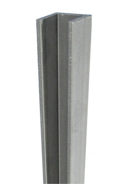 Duofuse Fencing U Profile Stone Grey (Large) 42mm x 1.82M