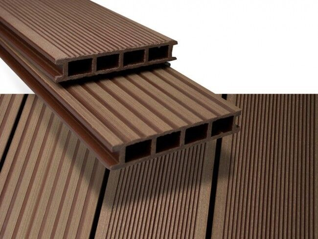 Duofuse Decking 162mm x 28mm x 6M Tropical Brown