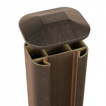 ECO FENCE POST CAP      WALNUT 110mm x 90mm
