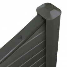 ECO FENCE CONCAVE TOP GRAPHITE 1828mm x 180mm