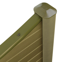 ECO FENCE CONCAVE TOP NATURAL 1828mm x 180mm