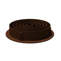 CIRCULAR SOFFIT VENT BROWN 68mm
