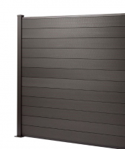1.8M x 1.8M FENCE     CHARCOAL with 1.8M POST & B/PLATE KIT