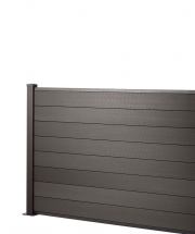 4FT x 1.8M FENCE      CHARCOAL with 1.54M POST & B/PLATE KIT