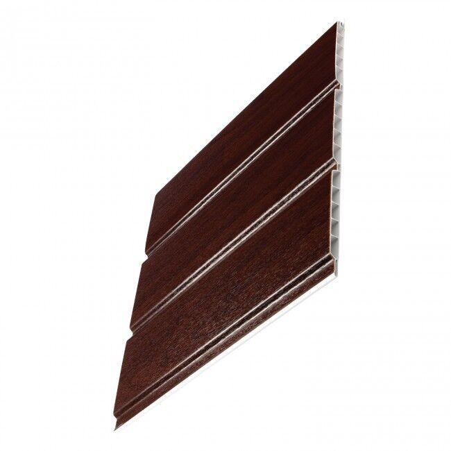Hollow Pvc Soffit Board 300mm x 5M Rosewood