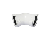 135 Degree Angle Half Round White