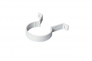 Downpipe Bracket Half Round White