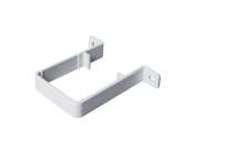 Downpipe Bracket Square White