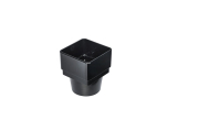 Square To Half Round Pipe Adaptor Black