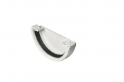 Stopend External Half Round White