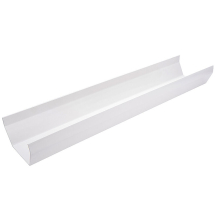 GUTTER 5M             SQ WHITE