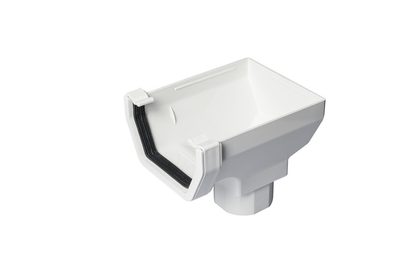 Stopend Outlet Square White