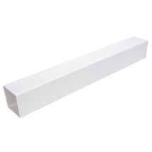 2.5M Downpipe Square White