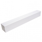 Downpipe Square 5.5M White