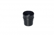 Downpipe Connector Half Round Black