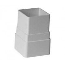 Downpipe Connector Square White