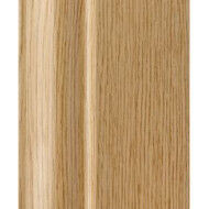 Ogee Plastic Skirting Board 100mm x 2.9M Light Oak