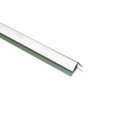 External Corner Trim Chrome 2.6M x 5mm Thick