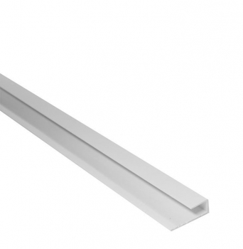 End Cap / Starter Edge Trim White  2.6M x 8mm Thick