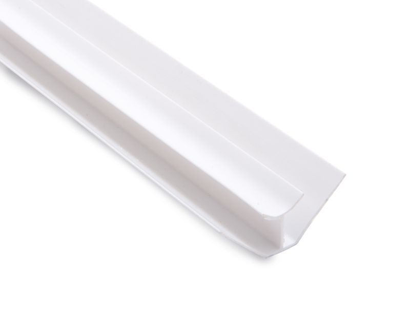 Internal Corner 2 part Trim White 2.6M x 8mm Thick