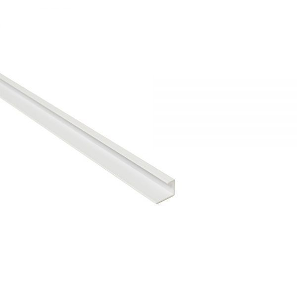 Maxi Panel End Cap / Starter Edge Trim White 2400mm  Metal