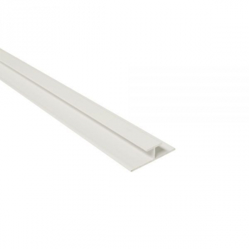 Maxi Panel Centre Joint / H-Joint Trim White 2400mm  Metal