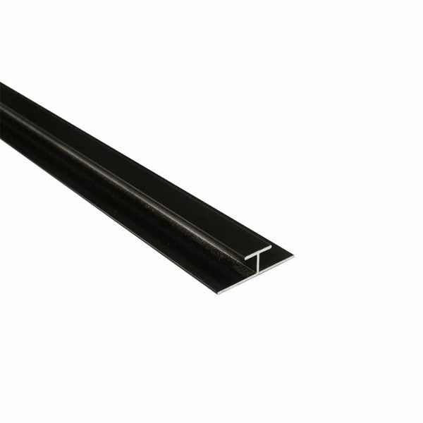 Maxi Panel Centre Joint / H-Joint Trim Black 2400mm Metal