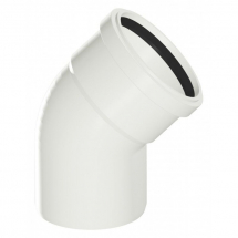 135 Degree Bend Socket Soil White