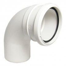 92.5 Degree Bend S/Socket Soil White