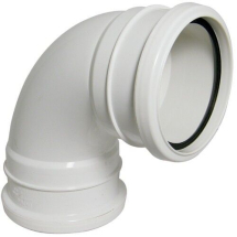 92.5 Degree Bend D/Socket Soil White