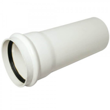 Single Socket Pipe Soil 4M White