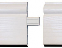 Plastic Skirting In-Line Joint Moulding White