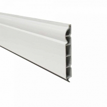 Ogee Plastic Skirting Board 100mm x 5M x 15mm White Satin