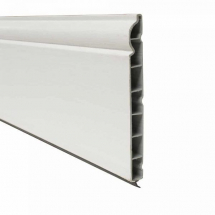 Ogee Plastic Skirting Board 150mm x 5M x 15mm White Satin