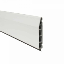 Chamfered Plastic Skirting Board 100mm x 5M x 15mm White Satin