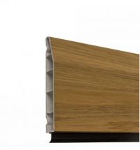 Chamfered Plastic Skirting Board 150mm x 5M x 15mm English Oak