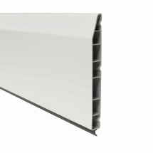 Chamfered Plastic Skirting Board 150mm x 5M x 15mm White Satin