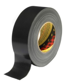 30mm BLACK CLOTH TAPE ECONOMY
